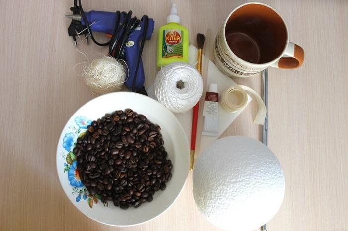 Что потребуется для создания кофейного топиария