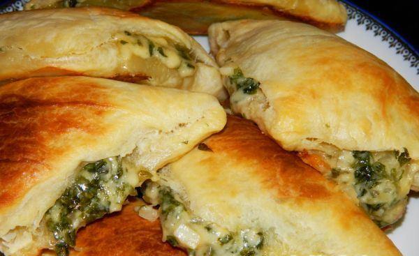 Самса с сыром и зеленью
